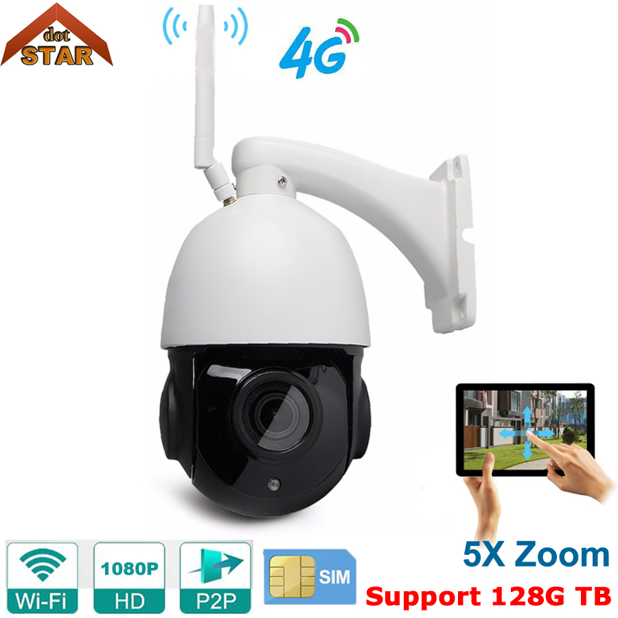 Stardot Wireless PTZ Speed Dome IP Camera WIFI Outdoor 1080P HD 5X Zoom Audio 128G SD Card CCTV Security Video Network Camera ysa 3g 4g wireless ptz dome ip camera outdoor 1080p hd 5x zoom cctv security video network surveillance security ip camera wifi