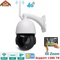 Stardot Wireless PTZ Speed Dome IP Camera WIFI Outdoor 1080P HD 5X Zoom Audio 128G SD Card CCTV Security Video Network Camera