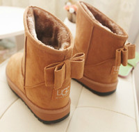 Ankle Snow Boots Women Flat Shoes Fashion Winter Suede Warm Fur Short Plush Black Boots Female