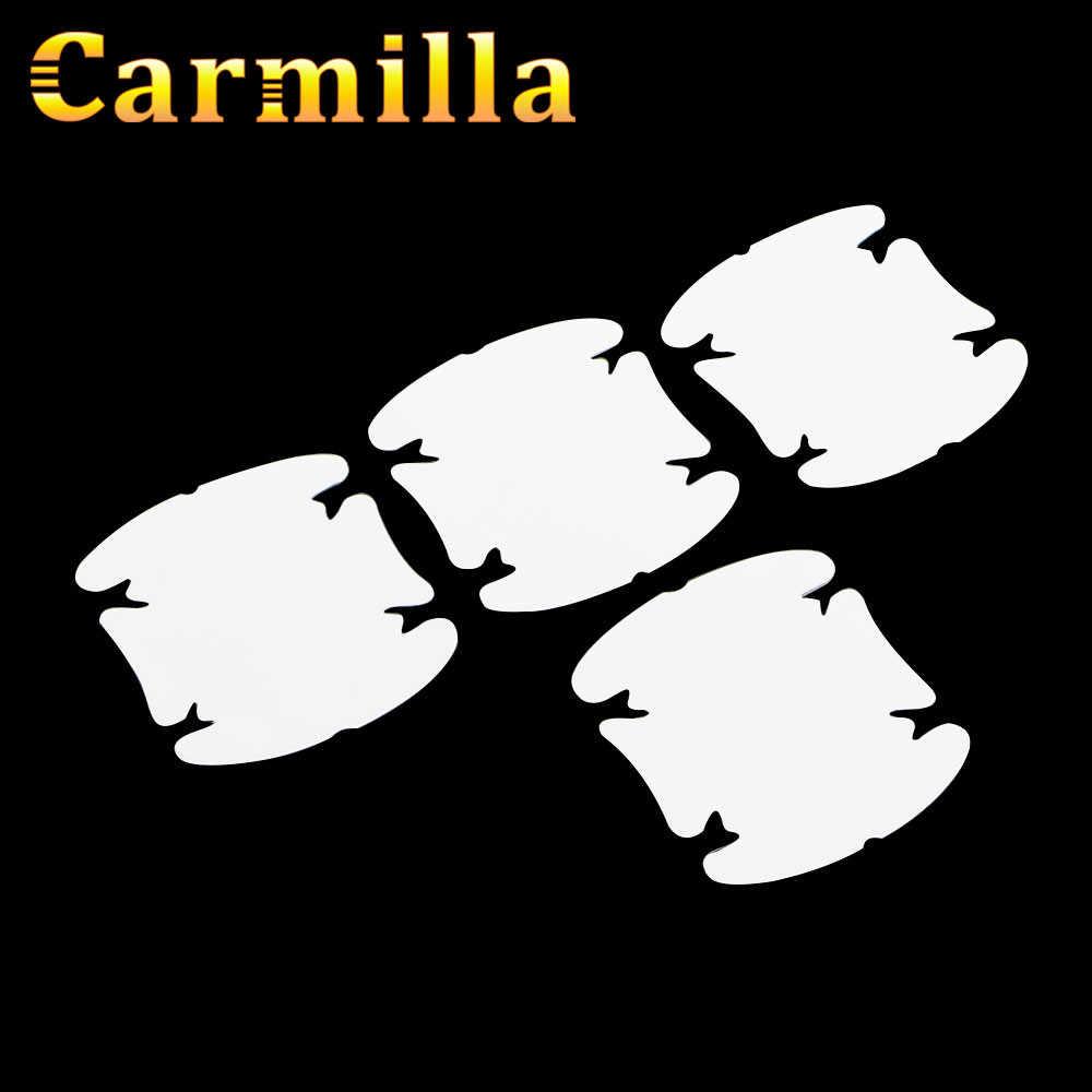 Carmilla Car Door Handle Scratch Protector Film Bảo Vệ Sticker đối với Hyundai Elantra Sonata I20 IX35 I30 IX45 Verna Solaris