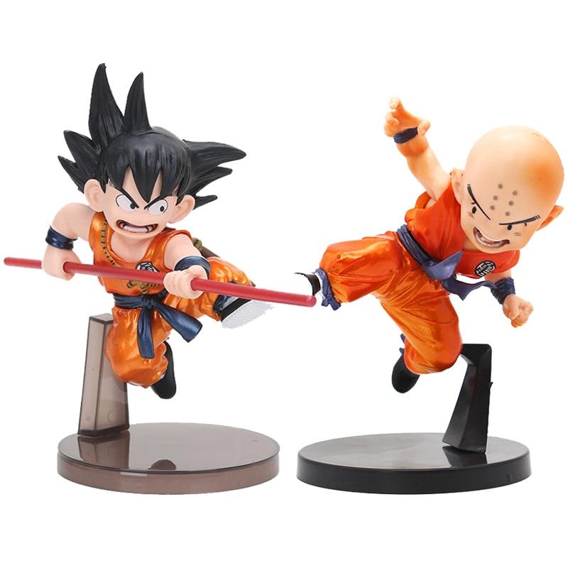 Anime Dragon Ball Figure Metallic Color Kid Krillin Son