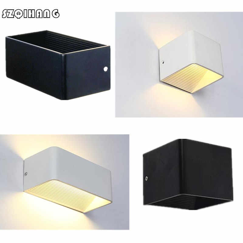 Modern Cube 5W 12W Dimmable Surface Mounted LED Wall Light Aluminum Wall Lights Garden porch Sconce Decoration Light AC85-265V