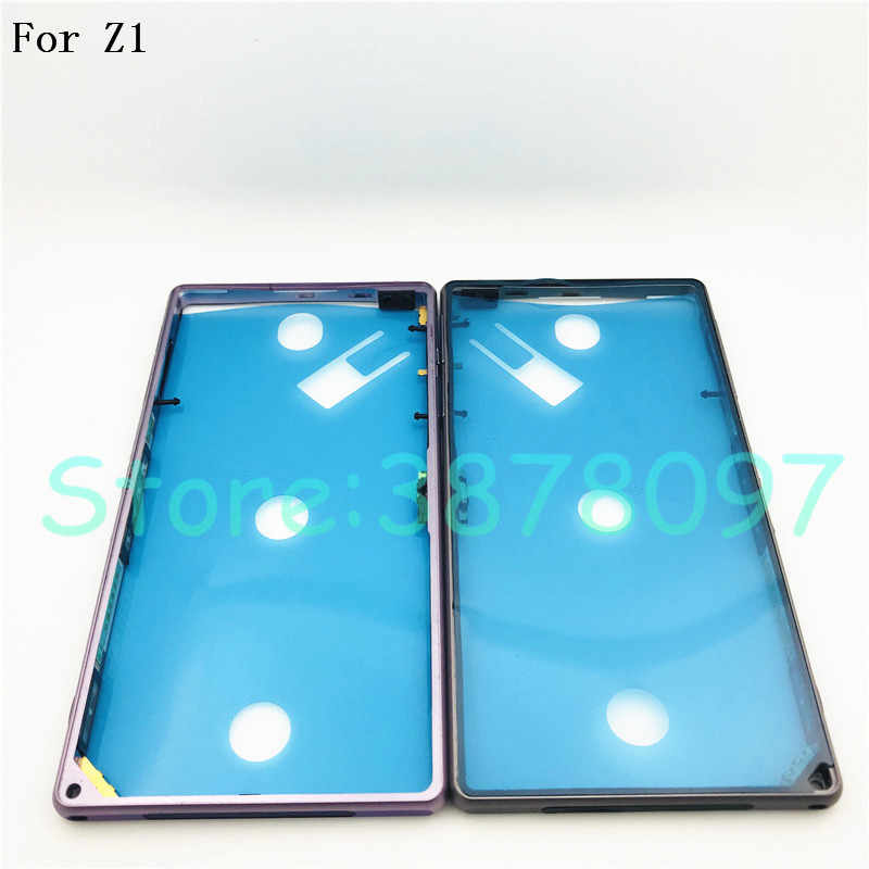 Original For Sony Xperia Z1 L39h C6903 Middle Frame Housing Bezel Middle Metal Side Plate Replacement Part