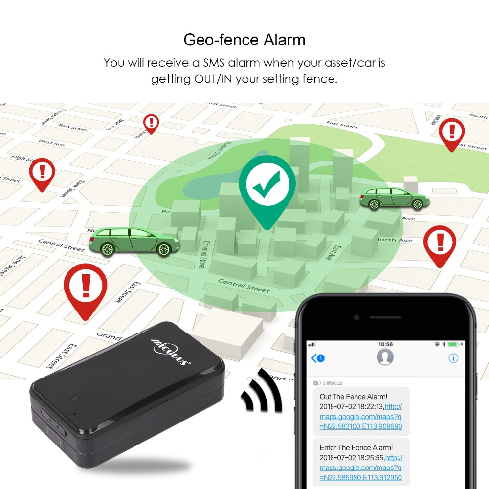 AT4 Strong Magnet GPS Tracker Car 2G IPX5 Waterproof 10000mAh Long Time Standby Real Time Tracking Voice Monitor GSM GPS Locator - 2