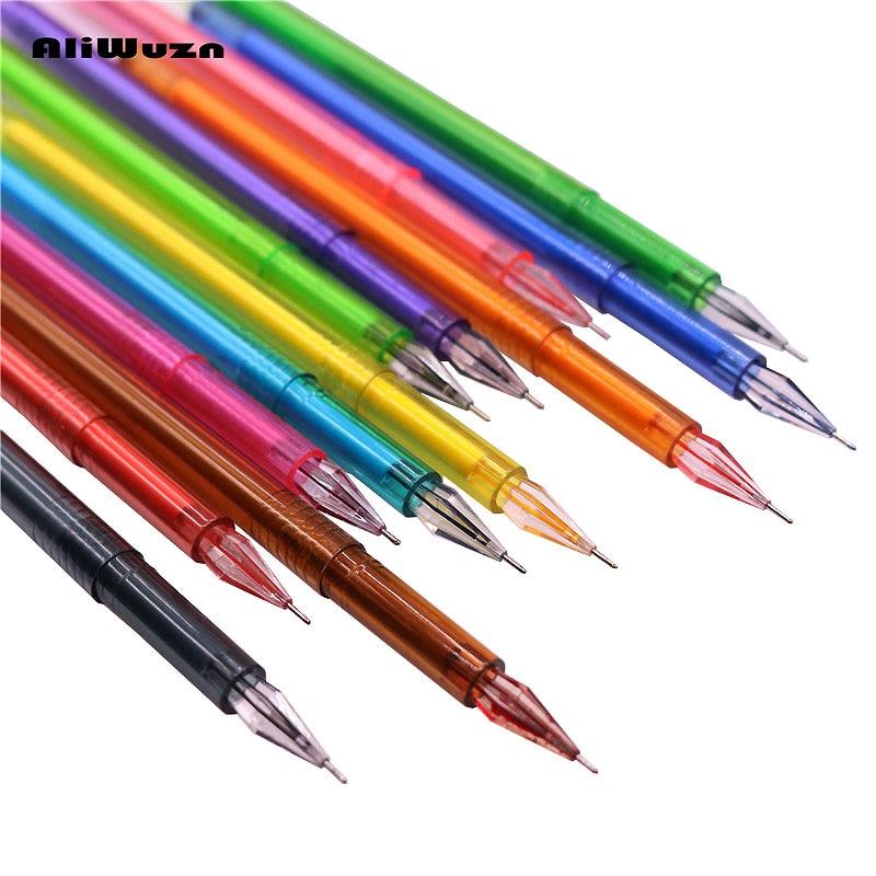 Wholesale Student School Supplies 12pcs / Lot 12color Gel Pen Boutique Color Diamond Pen Painting Writing Multi-function Pen