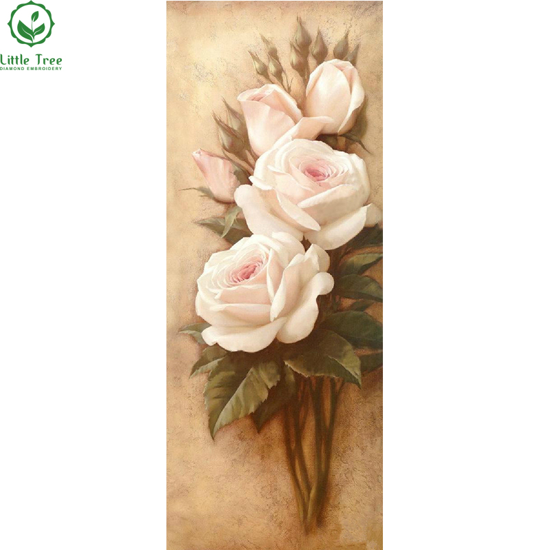Plein De Diamants Peinture Rose Rose Kit Résine Carré