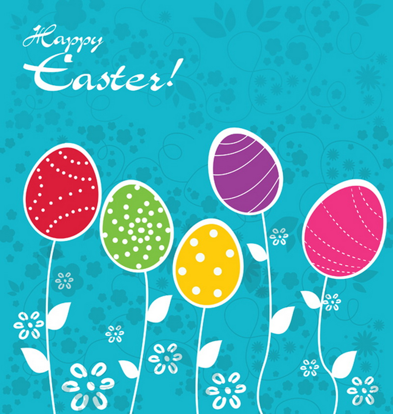 5x7ft (1.5x2.2m customized) Picture Of 'happy easter' Photography Backdrops Colorful Cartoon Easter Eggs Photo Background D-1118