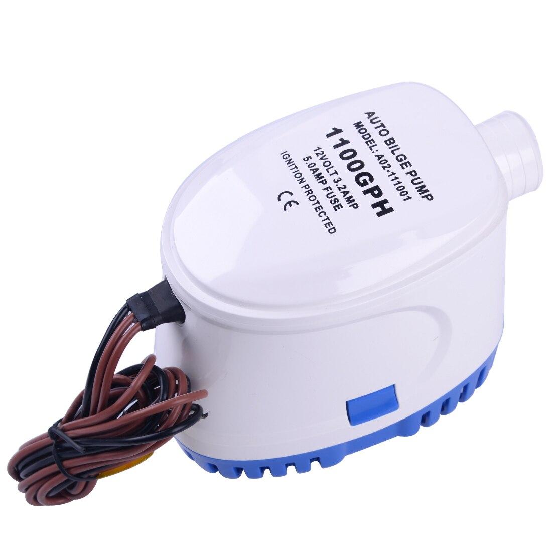 Pompe à eau automatique Submersible Marine de cale de 12 V 1100GPH 3.2A avec le commutateur de flotteur pour les coques de bateau/réservoirs d'appât de cale