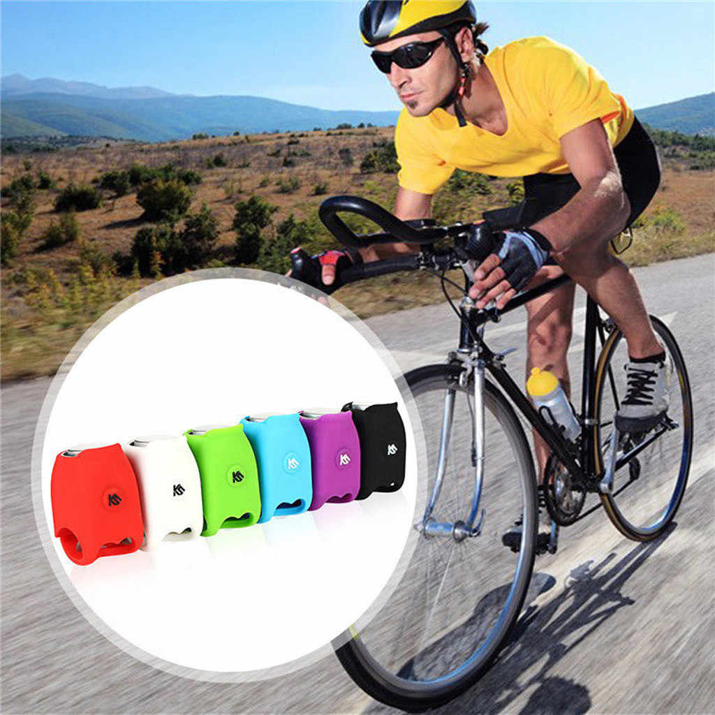 6 Kinds of Voices 120 dB Bicycle Silicone Electronic Horn Accessories Warning Mountain Bike Riding Equipment IPX4 Waterproof