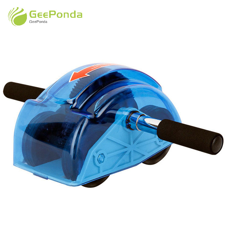 GeePonda Home GYM Spring Gear Ab Roller Wheel for Abdominal Exercise Fitness Four-wheeled Abs Rollers Musculation Abdominaux abdominal muscles exercises roller wheel home gym abdominal fitness machine exercise wheel core fitness workouts training