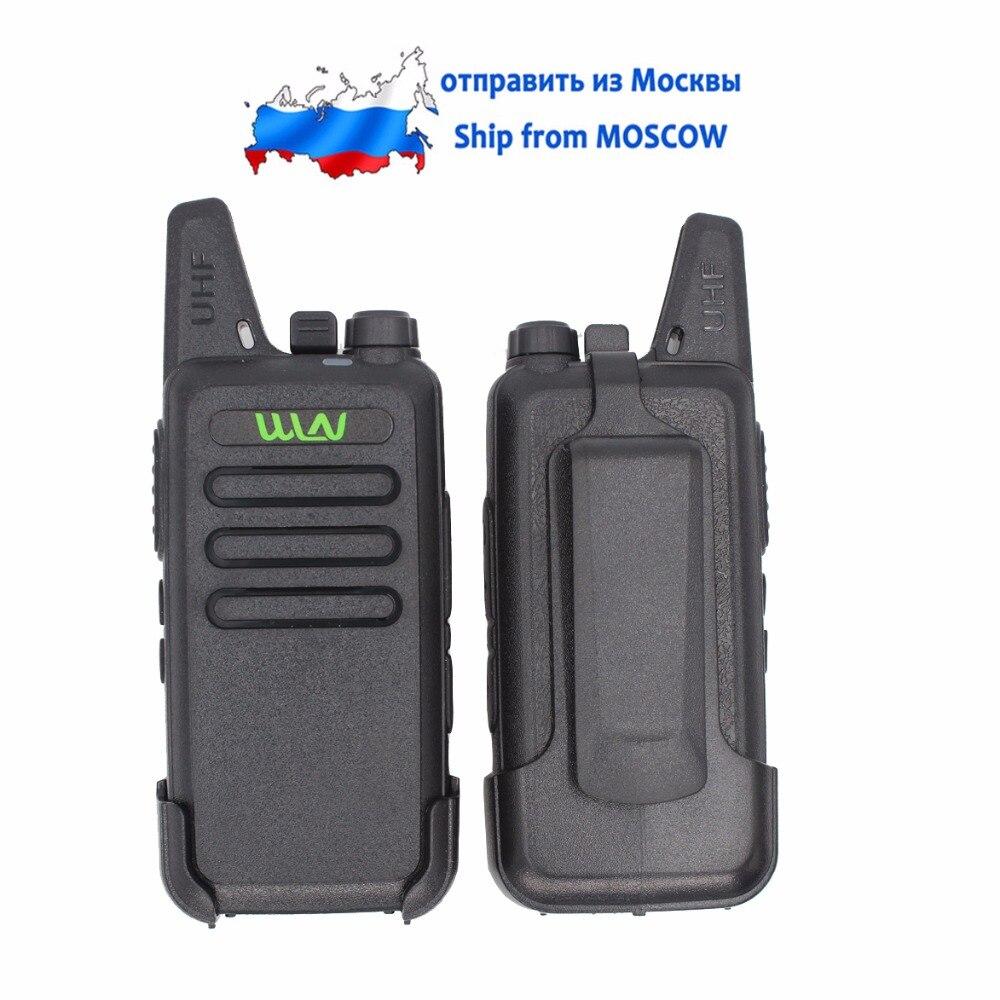 2PCs WLN KD C1 UHF long range Two Way Radio with Beltclip AIRFREE AP 100 Walkie