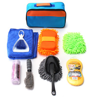 Car Interior Exterior Cleaning Kit Tools Including Sponge+Brush+Glove+Pack+Towel