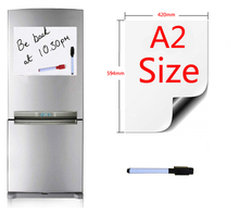 Magnetic Whiteboard A2 Size 420x594mm Fridge Magnets Presentation Boards Home Kitchen Message Boards Writing Sticker 1pen
