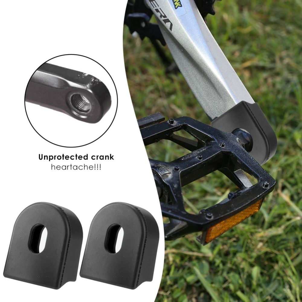 2 PCS Bike Crank Protector Cover Silica Gel Crank Boot Protectors Crankset Protective Case MTB Mountain Bike Accessories