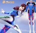 CGCOS Expreso! Anime Cosplay D. VA Traje DVA Traje de Spandex Zentai Catsuit Body Uniforme Fiesta de Navidad de Halloween