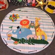Детские Playmat дети ковры Ковры дети хлопок головоломка сумка для хранения для ползания Одеяло дети Игрушечные лошадки sundrie чехол