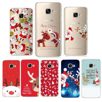 Christmas For Samsung A5 2017 Case Soft Silicone Phone Case for Samsung Galaxy A3 A5 J5 2017 J530 A8 Plus 2018 S8 S9 Plus Fundas