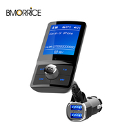 Wireless Bluetooth FM Transmmiter 1.8 Inch Color LCD Display Audio MP3 Player In Car 2USB Ports Siri Voice Assistant BC43
