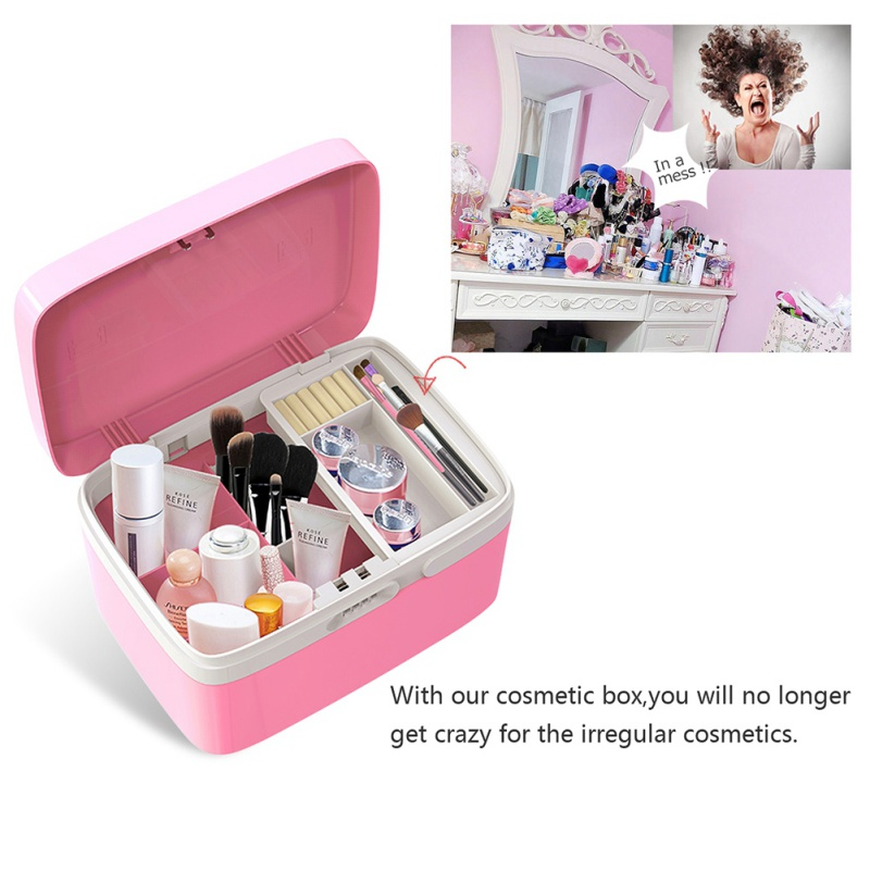 Storage Bins Box Password Lock Housekeeping Home Storage Organization Makeup Organizer Desk Accessories & Organizer Container