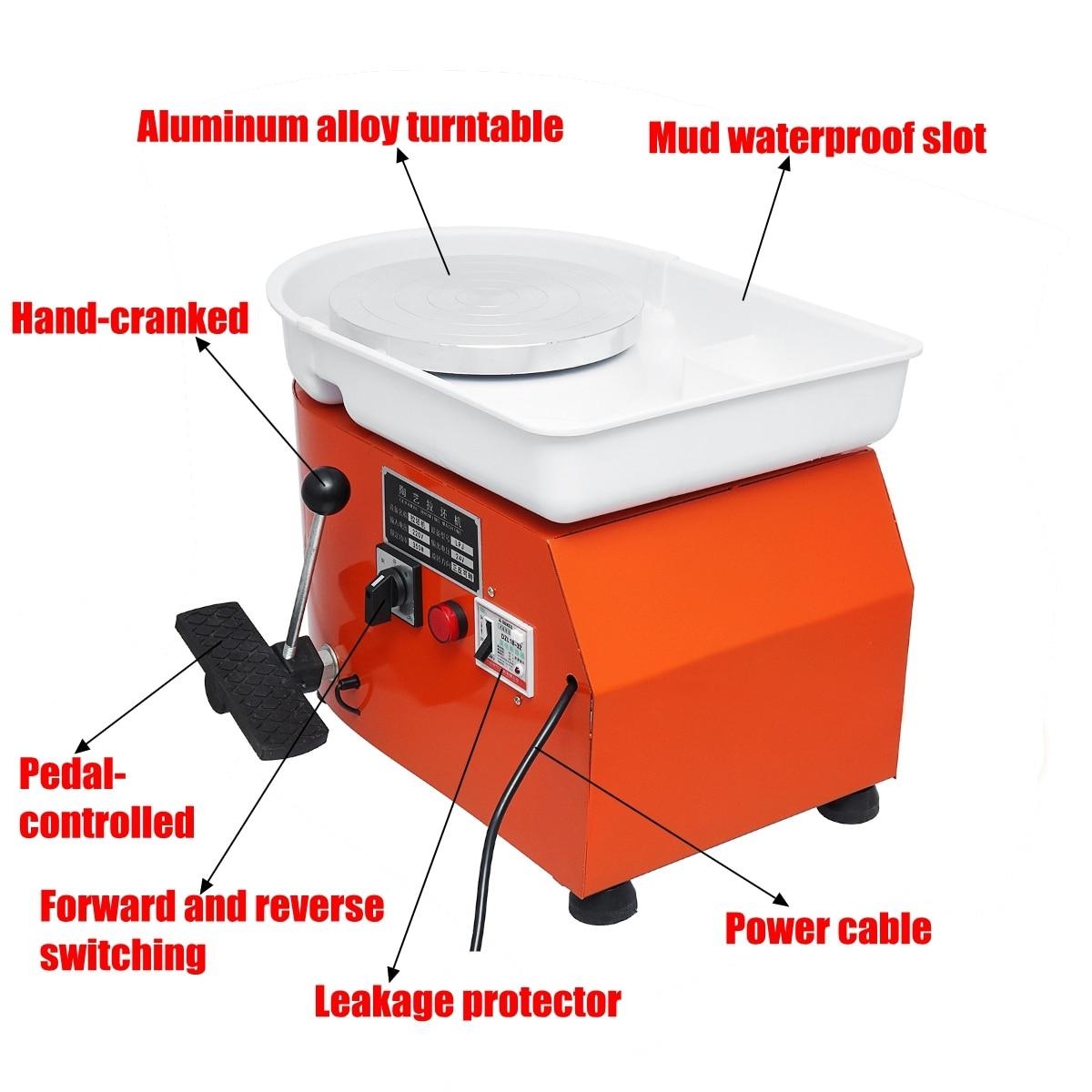 110 V/220 V Poterie Formant La Machine 250 W/350 W Électrique Tour De Potier argile pour travaux pratiques Outil avec Plateau pour En Céramique machine d'apprentissage - 3