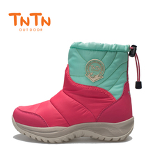 TNTN 2018 outdoor winter wool warm short tube plus cashmere waterproof slippers female leisure cotton shoes ski boots