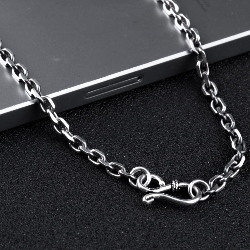 40997f69dd70 925 Sterling Silver chain men necklace men jewelry 100% Pure Silver ...