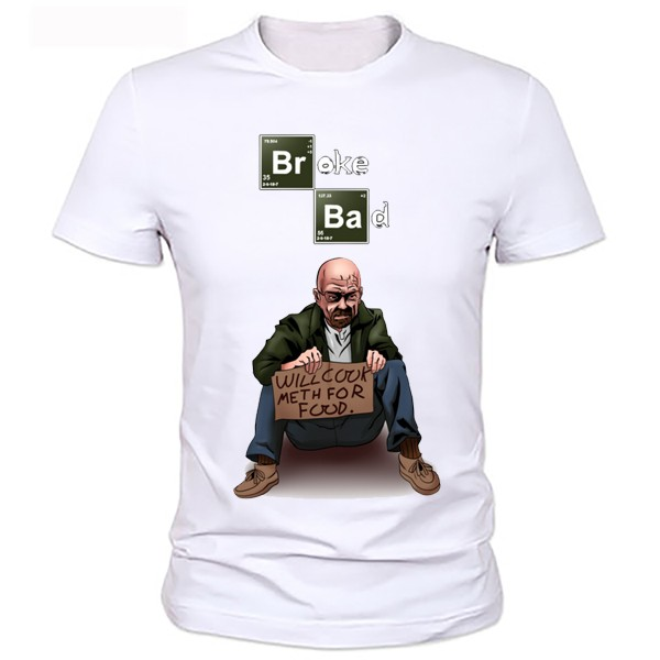 T-shirt da uomo BREAKING BAD Los Pollos Hermanos Cotton manica corta girocollo Tops Tees Fashion T shirt Breaking bad T shirt BRBA