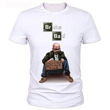 cfb9e0a17c Camiseta para hombre BREAKING BAD Los Pollos Hermanos algodón manga corta  cuello redondo Tops camisetas moda