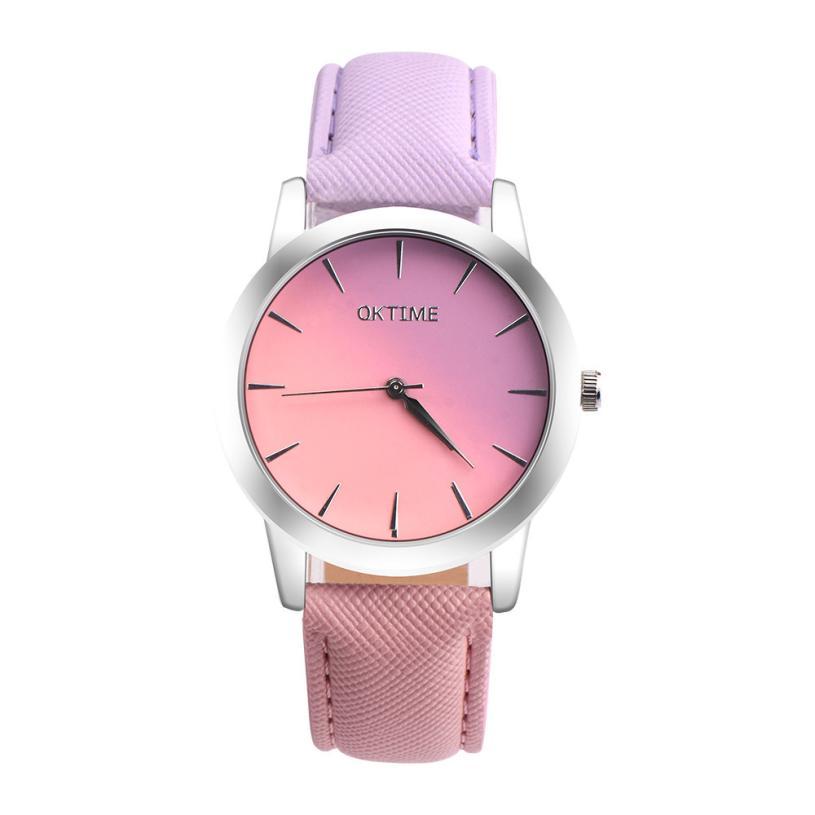 Quartz Wristwatches Rainbow Leather Band Women Watch Alloy Luxury Sport Clock Watches Reloj Mujer 18MAR15 2015 reloj mujer xr527