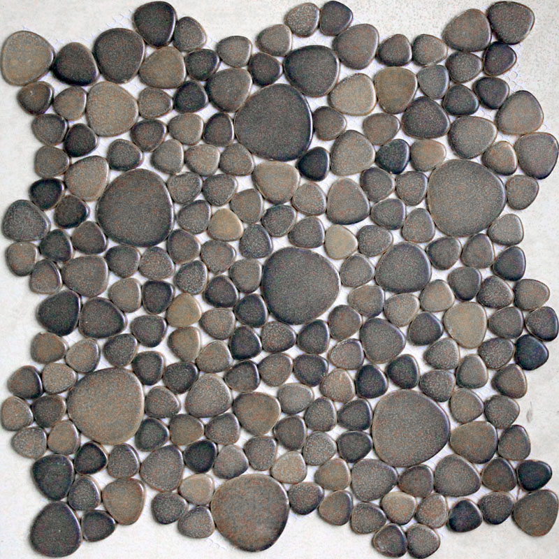aliexpress : braun farbe matt keramik pebble porzellan mosaik, Hause ideen