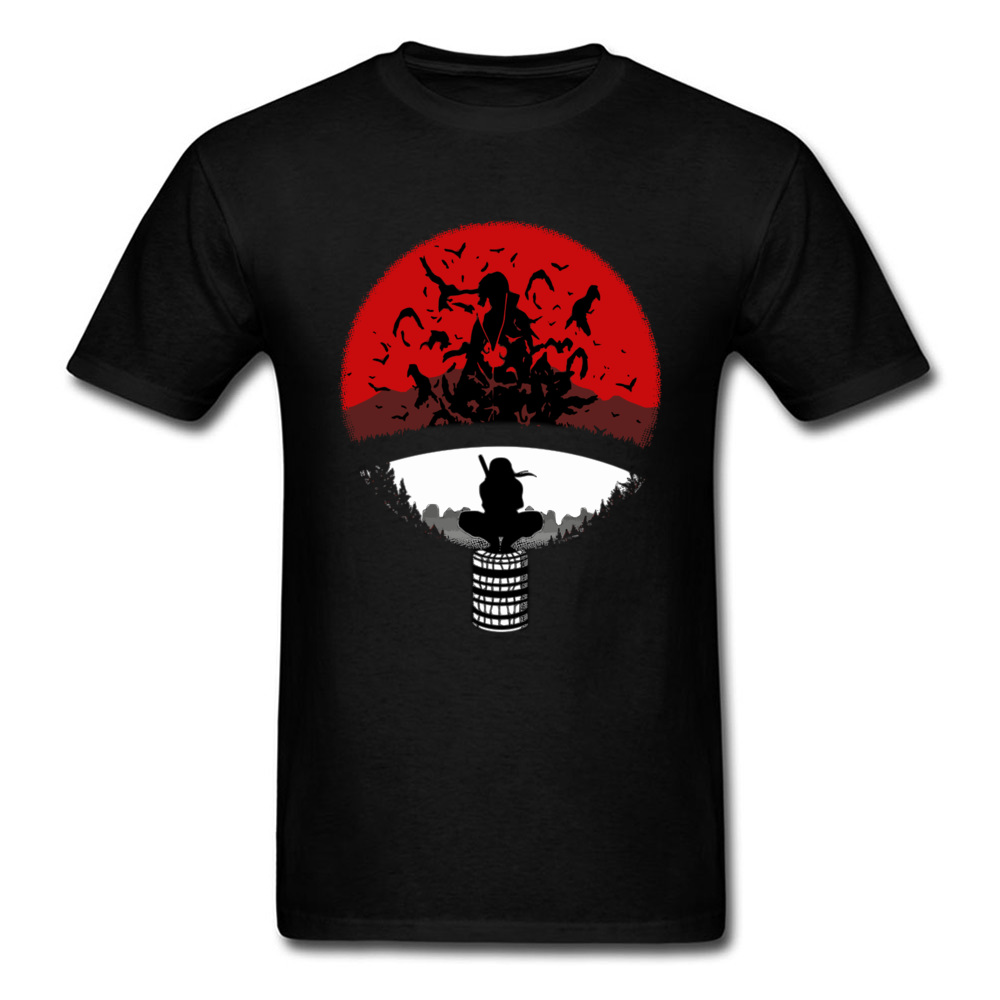 Itachi Uchiha   T     Shirt   Men's Ninja   T  -  shirt   Naruto Brother Tshirts Amazing Popular Logo Tops Black Tees 100% Cotton Clothes Japan