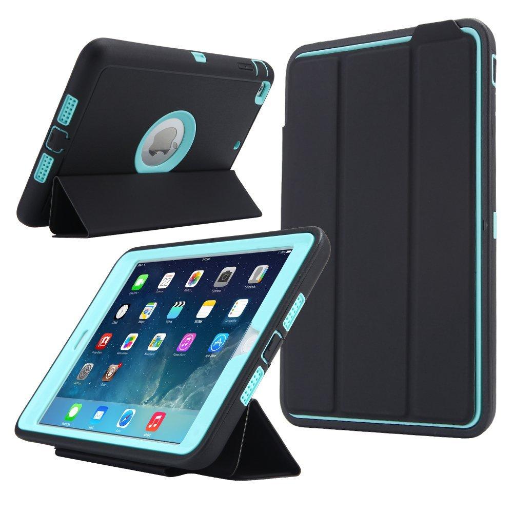 Pour iPad Mini 1/2/3 Retina Kids Safe Armure Antichoc Heavy Duty Silicone Dur Cas Couverture w/écran Protecteur Film + Stylet
