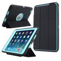 Voor iPad Mini 1/2/3 Retina Kinderen Veilig Armor Shockproof Zware Siliconen Hard Case Cover w/Screen Protector Film + Stylus Pen