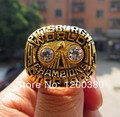 Free Shipping replica 1975 Pittsburgh Steelers Super Bowl Championship Ring Solid Fan Gift Wholesale Jewelry