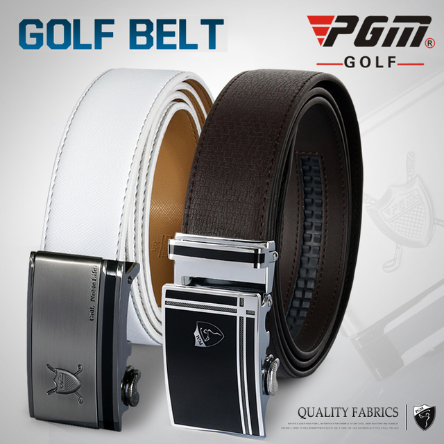 efa350f599d966 PGM Golf Belt Men's Top Layer Leather Belt Sliding Alloy Buckle 35.5mm Wide  Ratchet Outdoors Belt