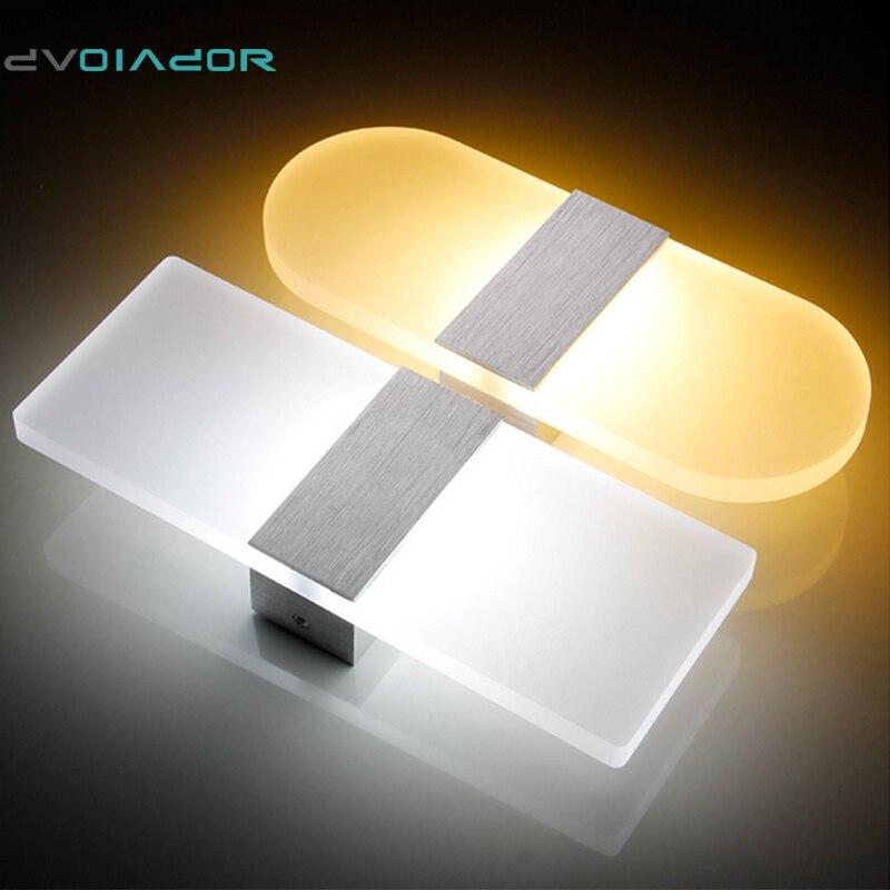 Dvolador квадратный/круглый 6 Вт 12 Вт светодиодный светильник настенный вверх и Подпушка AC220V светодиодный лестница ночники Спальня настенный с...