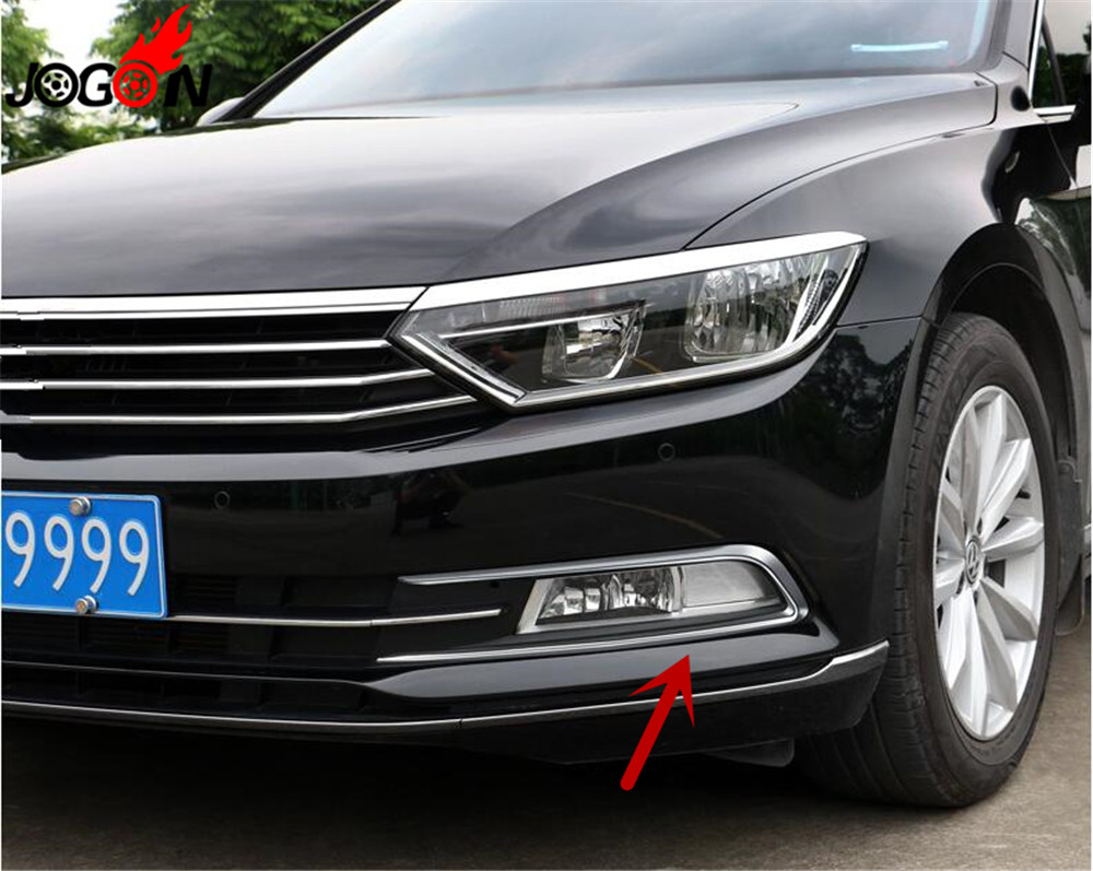Exterior Front Head Light Eyelid Cover Strip For Volkswagen Passat B8 2017-2018
