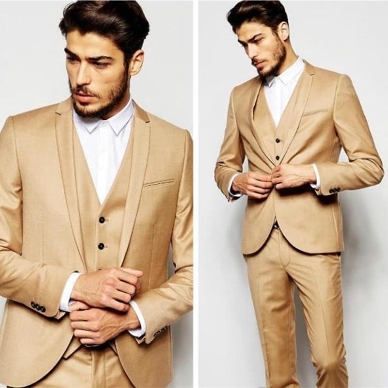 New Mens Stage Wear Dinner Party Prom Suits Groom Men Suit Tuxedos Costume Homme Wedding Blazer Suits (Jacket+Pants+Vest+Tie)