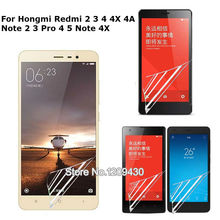 1x For Hongmi Redmi 2 3 4 4X 4A Note 2 3 Pro 4 5 Note 4X 5A 2 Pro Matte High Clear Matte Glossy Screen Protector Protective Film