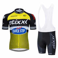Quick step Pro Team Cycling Jersey Set Summer short sleeve MTB Bicycle Clothing Racing Bike Clothes Maillot Ropa Ciclismo