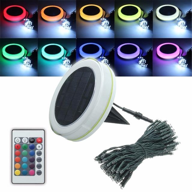 10 M RGB Luz de Hadas de la Energía Solar Lámpara de la Secuencia del LED de Iluminación Al Aire Libre Luz Impermeable Con Control Remoto de Navidad Decoración