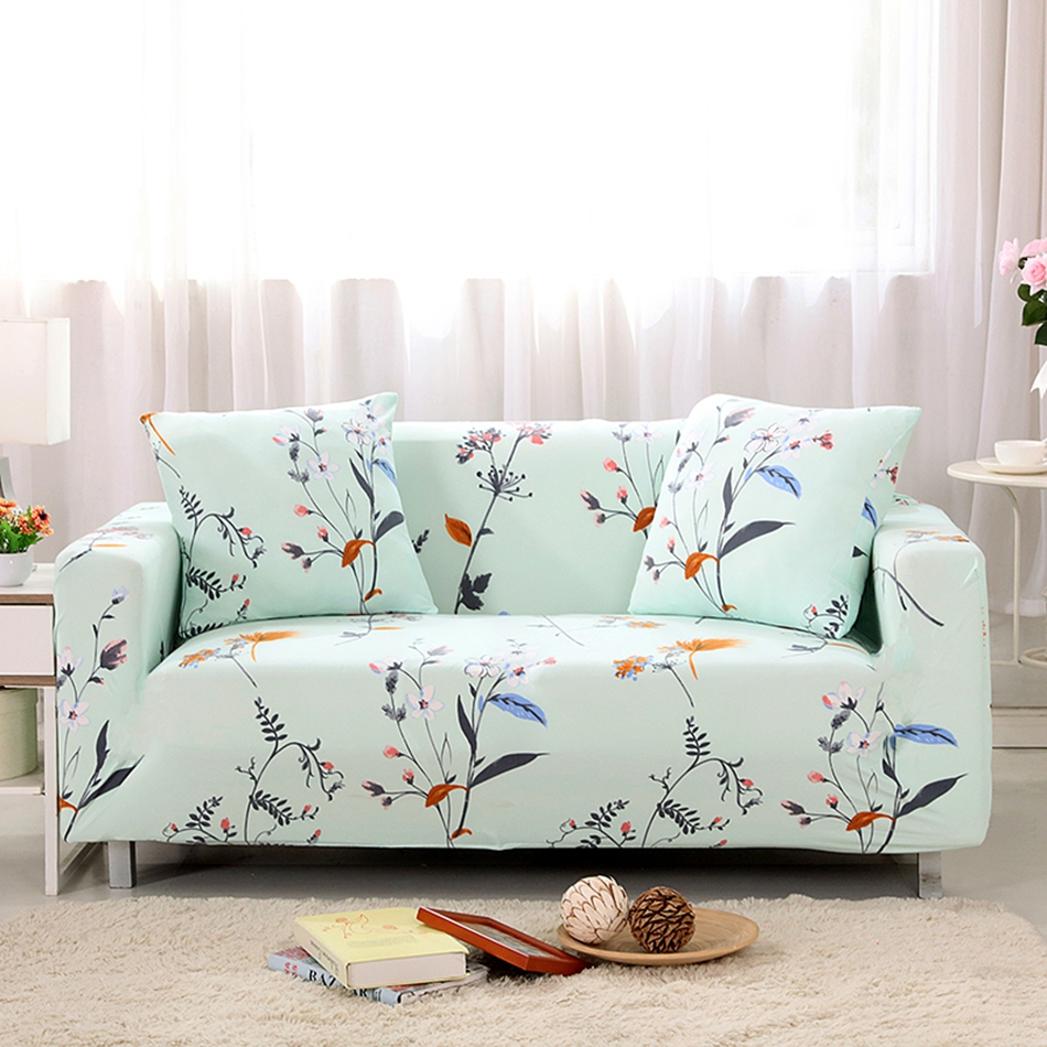 Pastoral Style Plant Designer Sofa Cover Slipcover For Single Double Three  Four Seat Sofa Protector Elastic