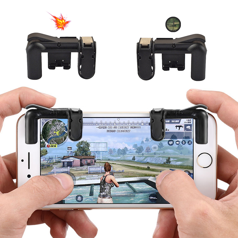 SIANCS 1 Pair PUBG Trigger Button For Smart Phone Mobile Joystick Assist Phone Gamepad Tool L1 R1 PUBG Controller