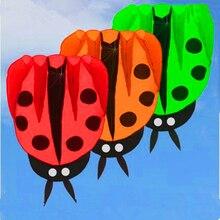 envío gratis grande cometa de la mariquita tela de nylon ripstop kite buggy cometas animadas para niños cometa inflable hermosa mango de pescado