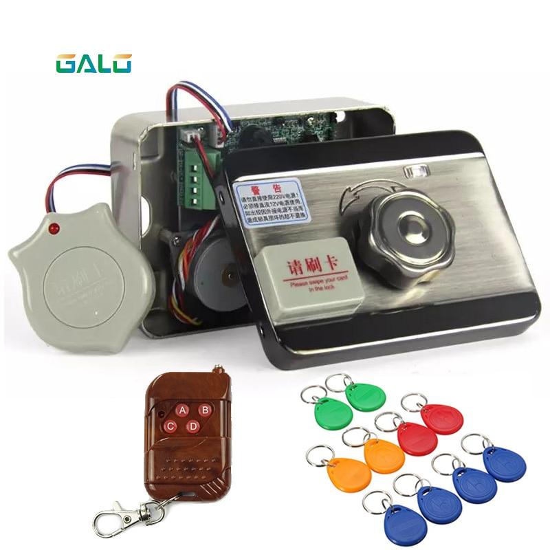 Electric Door & gate lock castle Access Control Electronic integrated RFID Door Rim lock remote control Optional