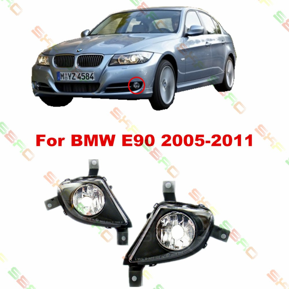 For BMW E90  2007/08/09/10/11  car styling fog lights   1 SET FOG LAMPS цена 2017