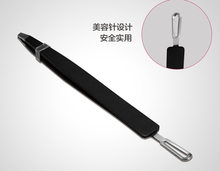 Stainless steel bevel eyebrow tools eyebrow clip clamp forceps plucking eyebrow tweezers, eyebrow clip bevel