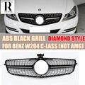 W204 SCHWARZ ABS Diamant Stil Frontschürze Grill Grille für Mercedes Benz W204 C CLASS C180 C200 C220 C260 C300 nicht fit C63-in Rennauto-Kühlergrill aus Kraftfahrzeuge und Motorräder bei