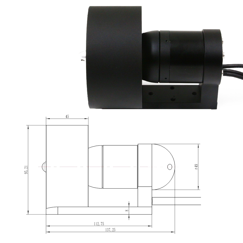 DS-02 24V ROV Underwater Thruster /Water-proof Motor For RC Boat/Robot Brushless Power Drive Motor