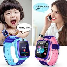 Новые смарт-часы LBS Детские Смарт-часы детские часы для детей SOS Вызов локатор трекер анти потеря монитор+ коробка